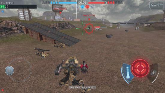 WarRobotのアクション画面