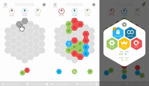 Favo!(ファーボ)の評価レビュー!エレメントを集めるパネル配置パズルアプリ