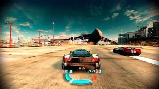 スプリットセカンドのレース画面