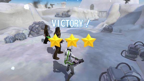 戦闘勝利のビクトリー画面