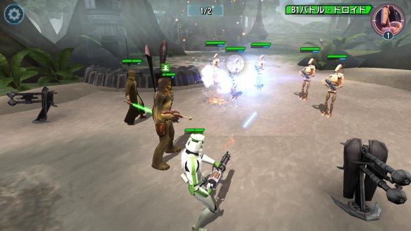 スターウォーズ銀河の英雄の戦闘バトル・全体攻撃の発動