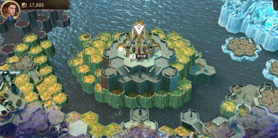 テラ:エンドレス・ウォーゲームの街づくりゲーム画面
