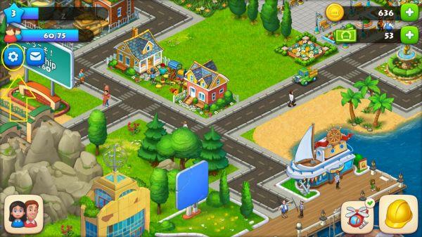 タウンシップのホーム画面