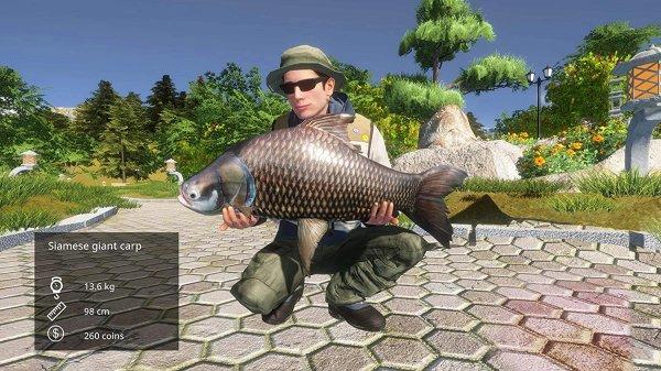Pro Fishing Simulator 釣った魚で記念撮影