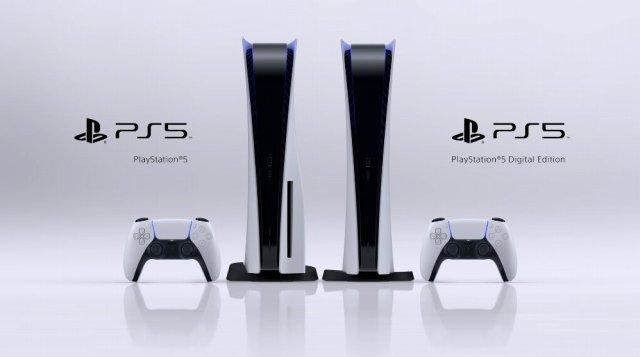 PS5の通常版とデジタルエディションの画像