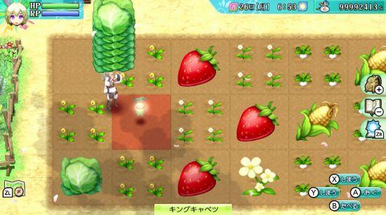 ルーンファクトリー4スペシャルの農園画面