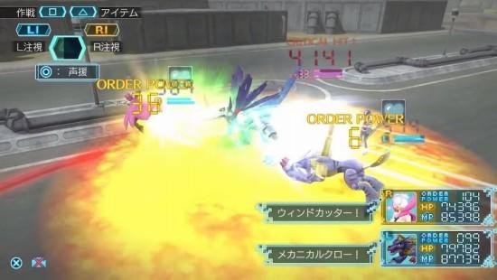 デジモンワールド -next 0rder-の戦闘バトル