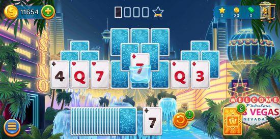 Solitaire Cruiseのパズルゲーム画像