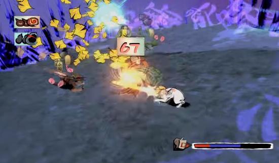 大神 絶景PS3版の戦闘ステージ