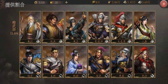 正伝三国志のガチャ当たり紫武将の画像一覧