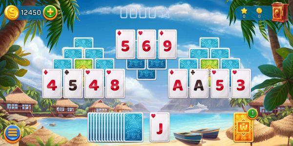 Solitaire Cruiseのカードゲーム画面
