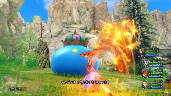 ドラゴンクエストXIの3D戦闘