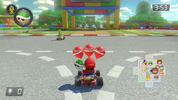 マリオカート8のミニゲーム画面
