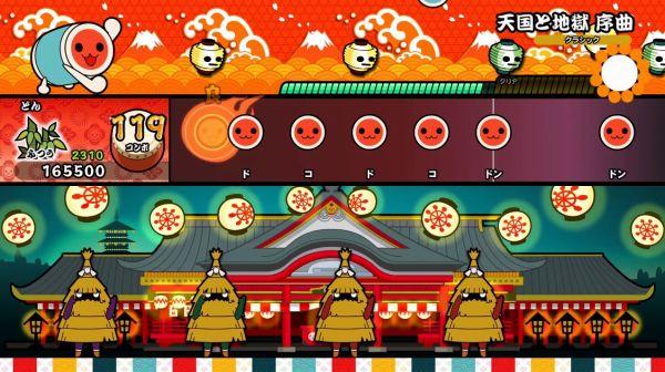 太鼓の達人Switch版のゲーム画面