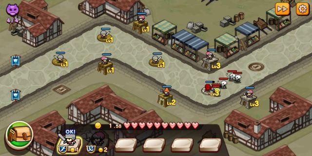 Pixel Hero Scrambleのタワーディフェンスバトル
