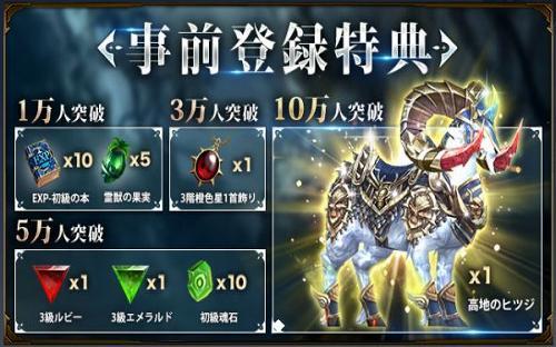 AOD-龍神無双-の事前登録報酬
