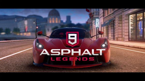 アスファルト9:Legendsのタイトル画面