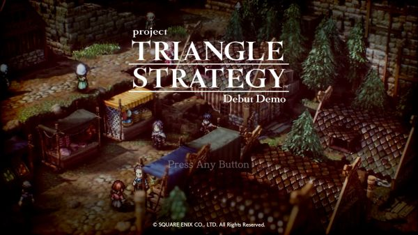 Project TRIANGLE STRATEGYのタイトル画面