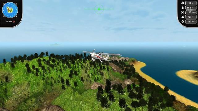 Island Flight Simulatorのフライト画面