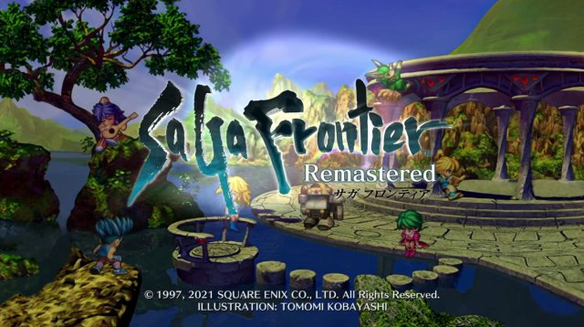 サガ・フロンティアの買い切りスマホゲーム版のタイトル画面