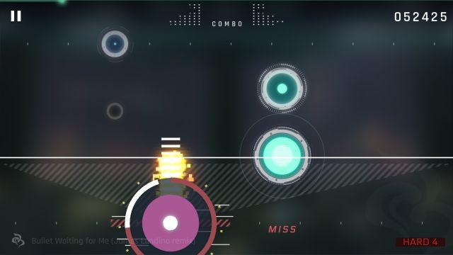サイタスⅡのリズムゲーム画面
