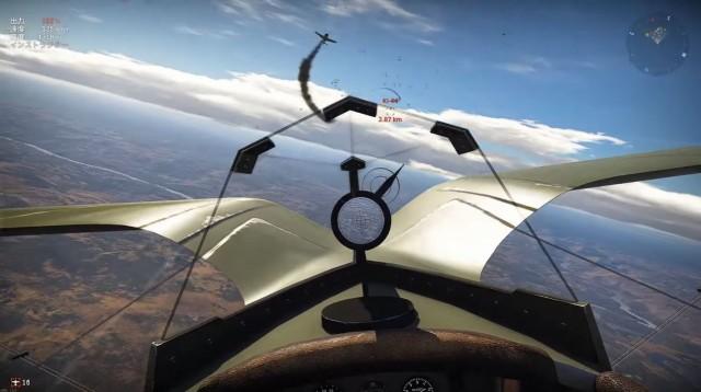 War Thunder飛行機のコクピット視点