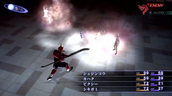 真・女神転生III NOCTURNE HD REMASTERのバトルシーン